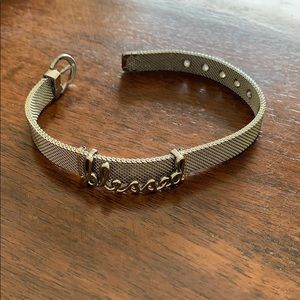 "KEEP Collective Jewelry - ""Blessed"" silver bracelet"